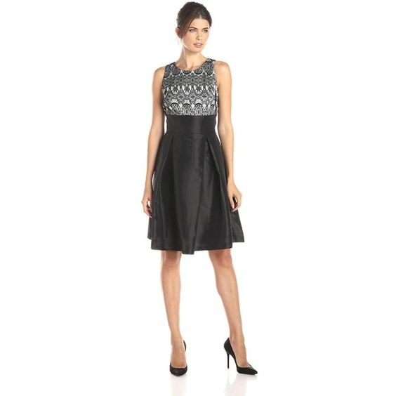 Sangria Women's Sleeveless Empire Waist Lace Bodice (€81) ❤ liked on Polyvore featuring dresses, empire waist cocktail dresses, sleeveless empire waist dress, belted lace dress, lacy dress and lace cocktail dress
