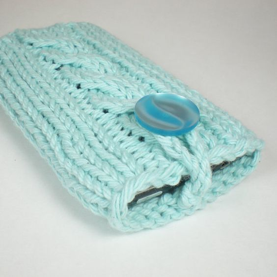 Blue iPhone case or iPod case / cell phone cozy / by onaroll, $14.00