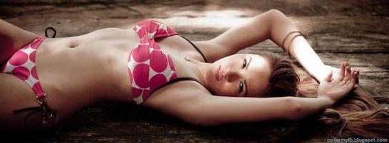 Beautiful Bikini Girl Facebook Cover.