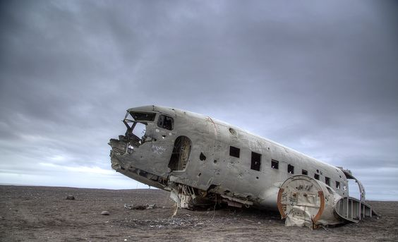 DC3 in Distress, Dyrholaey, Southern Iceland