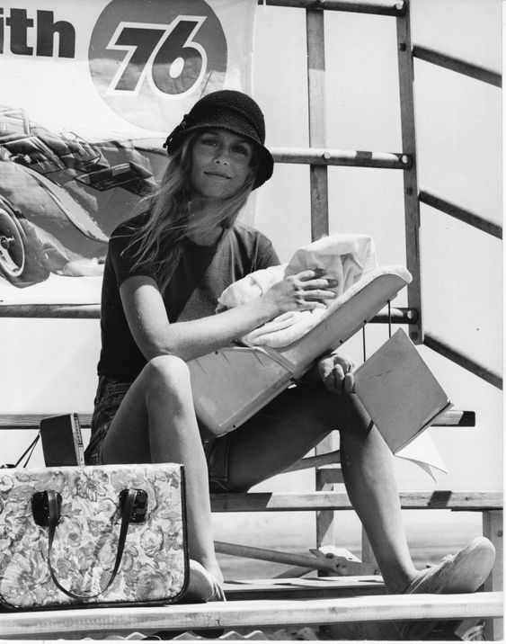 Lauren Hutton by Steve Shapiro in Little Fauss and Big Halsy directed by Sidney J. Furie, 1970: