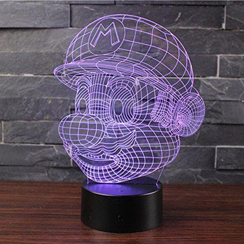 3d Lampes Illusions Optiques Nhsunray 7 Couleurs Changement Tactile Interrupteur Lumiere De Nuit Art Deco Faites U En 2020 Eclairage De Table Illusion Optique Art Deco