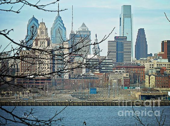 Philly PA from Camden NJ as seen by Sally Simon, available on FineArtAmerica.com