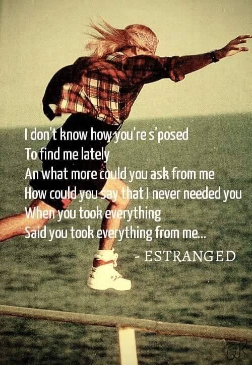 guns and roses estranged lyrics