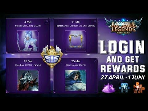 Cara Mendapatkan Hero Dan Skin Gratis Di Mobile Legends 515 Event Unite Youtube Mobile Legends Legend Hero