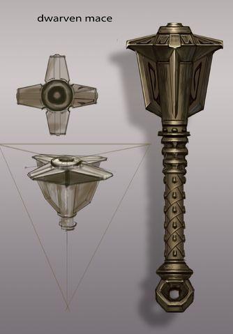Dwarven Mace concept art equipment gear magic item ...