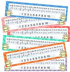 Et voici un petit outil d'aide à l'écriture des lettres et des chiffres en cursif. J'utilisais auparavant les réglettes de Lutin Bazar, que je trouve toujours aussi chouettes! Mais j'ai trouvé un m...
