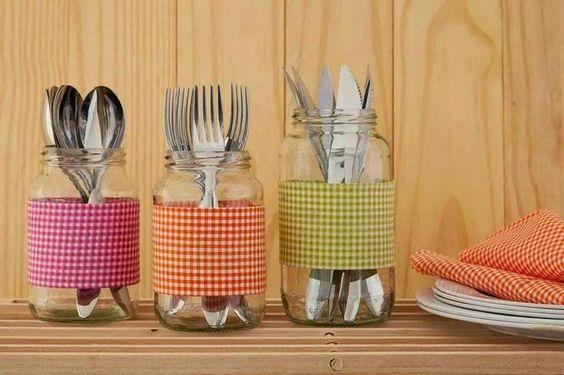 blog de decoração - Arquitrecos: Reaproveitando potes de vidro: Organizar, decorar e presentear!: