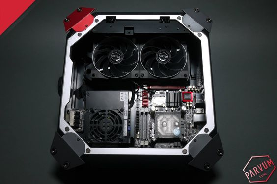 Parvum m8 by JR23 and Parvum Systems.   Read more at: http://www.roothub.co.uk/tech/pc-modding/parvumm8/