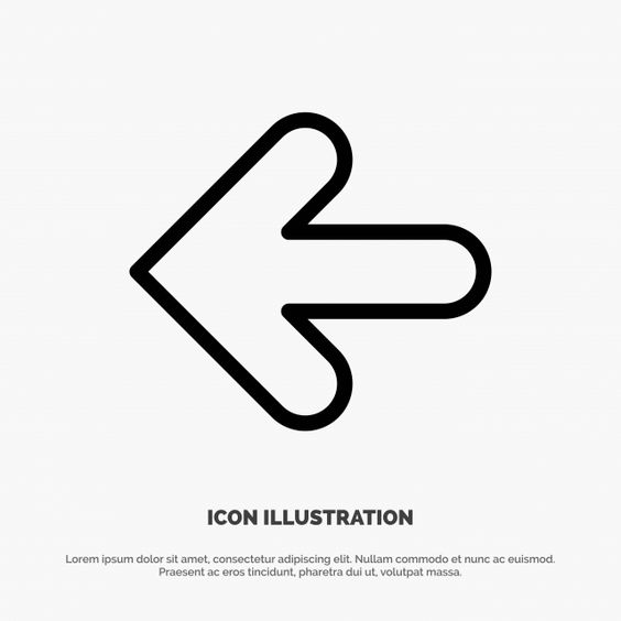 Arrow Arrows Back Point Back Line Icon Vector Line Icons Back Icons Aiming Png And Vector With Transparent Background For Free Download History Icon Line Icon Icon
