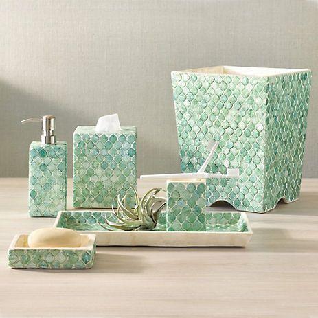 Moroccan Capiz Shell Bath Accessories