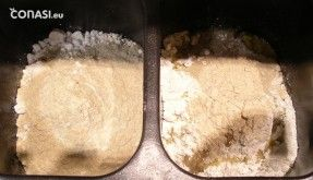 Ingredientes preparados en el molde