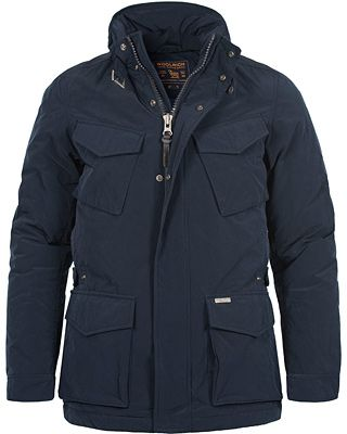 Woolrich Travel Down Jacket Dark Navy i gruppen Jackor ...