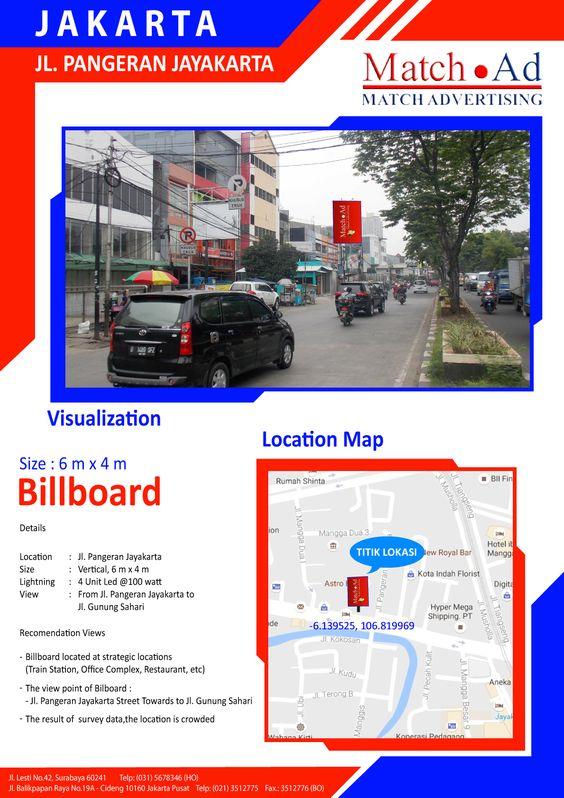 Jakarta Pusat - Baliho 6x4, Jl. Pangeran Jayakarta
