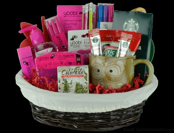 "A+ Basket in Pink- A great teacher or student gift that supports the ""Kids In Need Foundation."""
