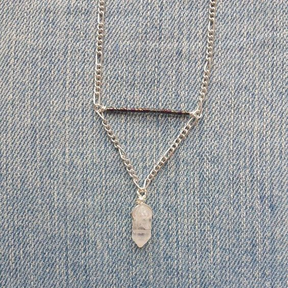 Quartz necklace by Marlee Cheyanne Watts  https://www.etsy.com/ca/shop/MarleeCWatts?ref=si_shop