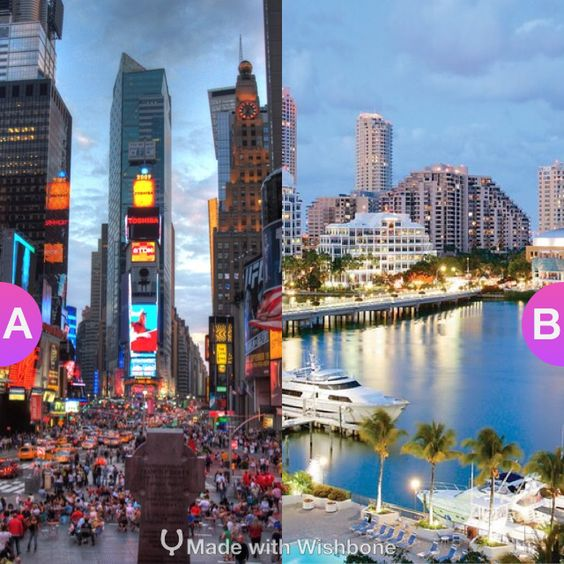 Would you rather live in New York Or Miami? Make yours @ http://bit.ly/Wish2