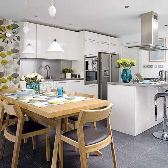 25 Open Plan Kitchen Dinner Room Design Ideas Kitchens And Dining Rooms Pinterest Design