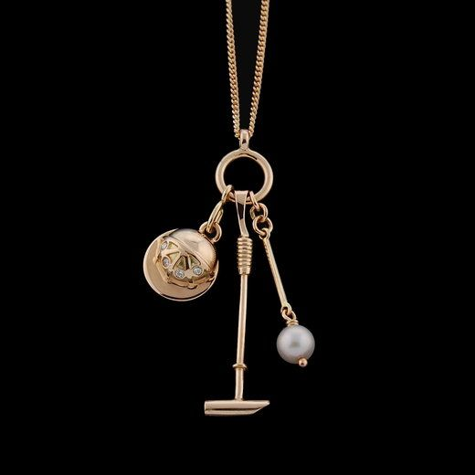 Polo Mallet Pearl Earrings Polo Jewelry Polo Earrings Horse Earrings Horse Jewelry Pearl horse, Equestrian Jewelry