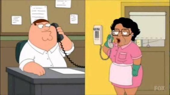 Peter Griffin Calls Consuela
