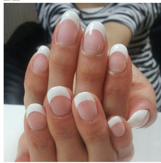 Round French tip | Nail love | Pinterest | French, French ...
