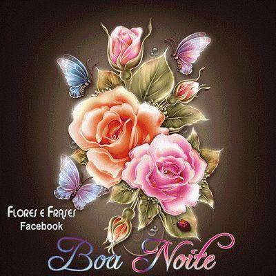 mensagem de boa noite com flores para refletir