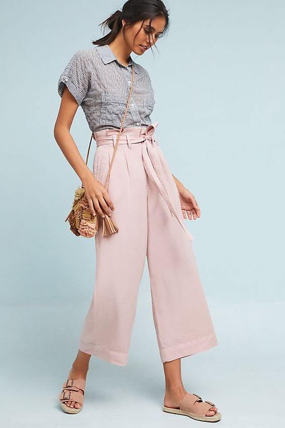 Slide View: 1: Blythe Wide-Leg Pants