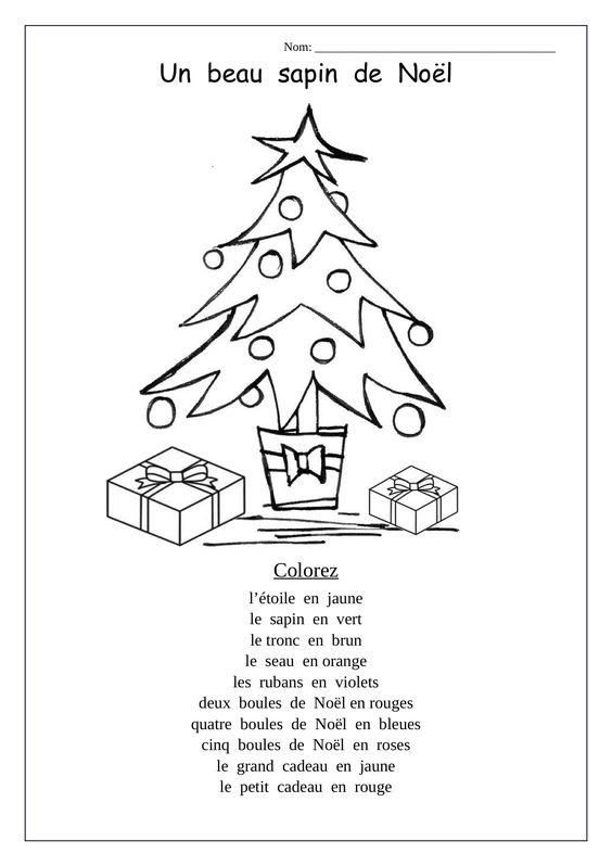 french christmas coloring sheet following directions using vocab joyeux noel core french. Black Bedroom Furniture Sets. Home Design Ideas