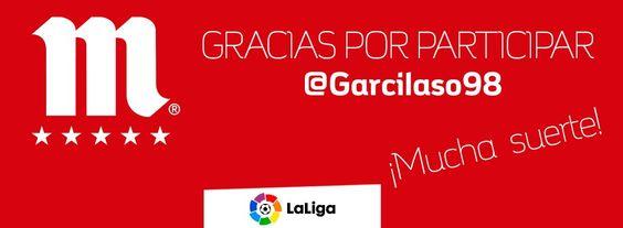 LaLiga: Garcilaso98 Muchas gracias por participar en el concurso de futbolmahou. Suerte en el sorteo! https://t.co/ICZbq1bDmA #LigaEspaño