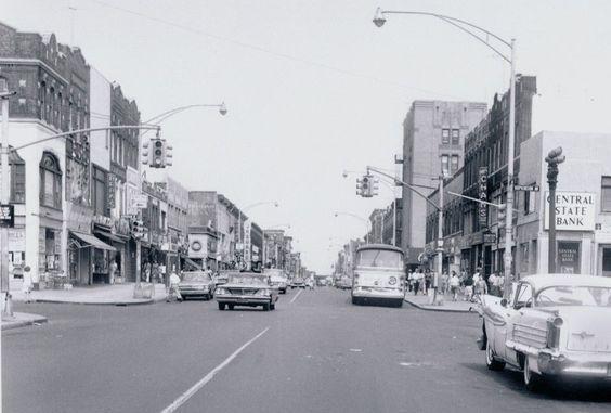 SUPER RARE! 1964 PITKIN AV east from HOPKINSON AV BROWNSVILLE Brooklyn NYC Photo