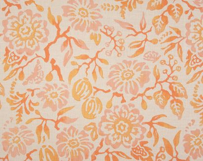 Primitive Flower in Coral from Galbraith & Paul. Spring 2012 Collection.