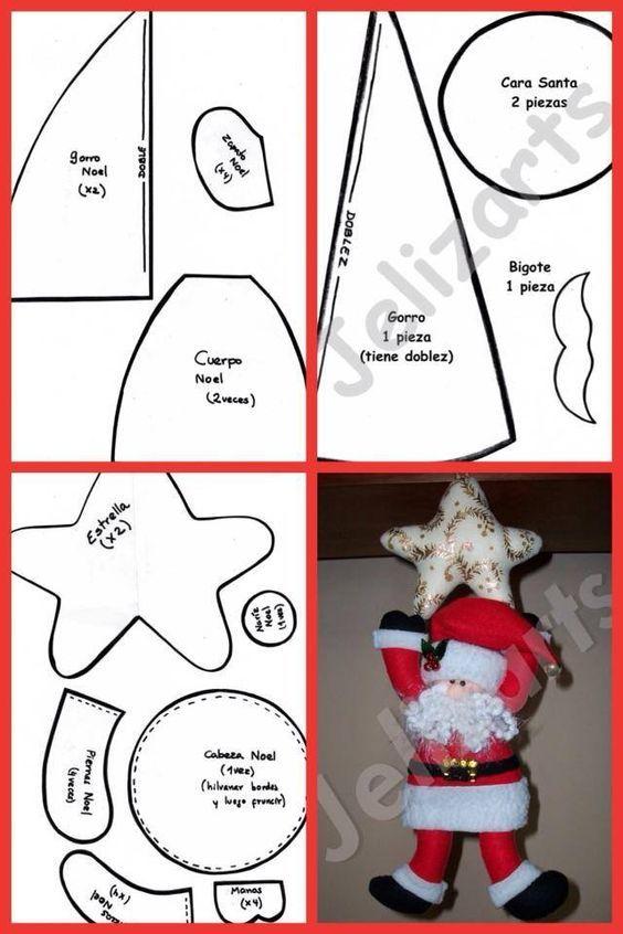 Moldes De Navidad Para Hacer Figuras En Fieltro Moldes De Navidad Gratis Moldes Felt Christmas Decorations Felt Crafts Christmas Christmas Ornaments Homemade