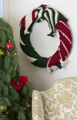 Strickmuster für Betuchter Weihnachtskranz