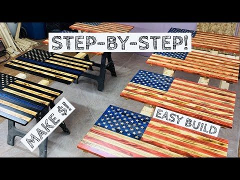 Most In Depth Wood American Flag Build Make Money Woodworking How To Youtube American Flag Wood Wood American Flag Diy Wood Flag Diy