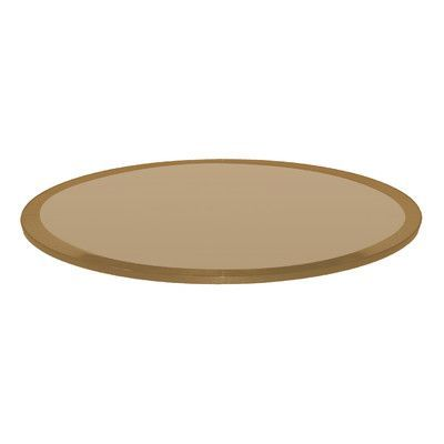 Fab Glass And Mirror Round Beveled Tempered Glass Table Top Finish: Bronze