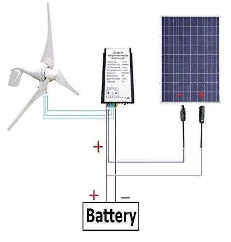 12 V 500 Watts Wind Solar Powered System 12v 24v 400w Wind Turbine Generator 12v 100w Polycrystalline Home Wind Turbine Wind Turbine Generator Wind Turbine