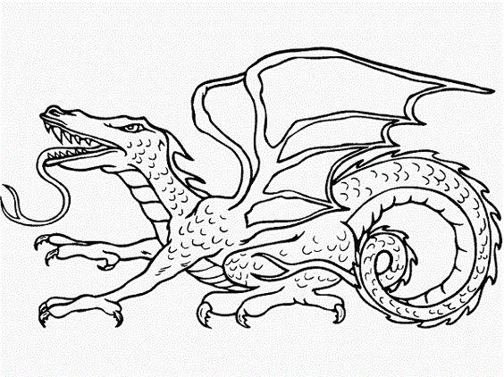 mit Drachen Malvorlagen: Malvorlagen mit Drachen 2326   Drago ...