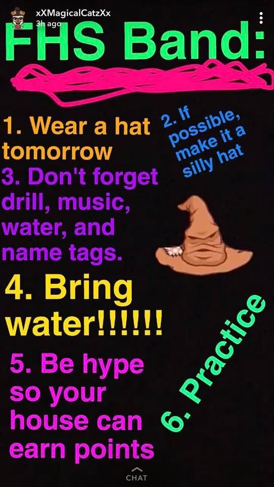 Pin By Sarah Henderson On Fhs Band Memories Silly Hats Don T Forget Silly