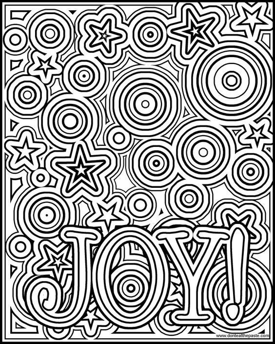 joy coloring page - a well coloring and coloring pages on pinterest