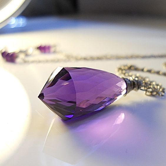 OMG delish! Amethyst Purple Quartz Chandelier Wire Wrapped by YourDailyJewels, $70.00
