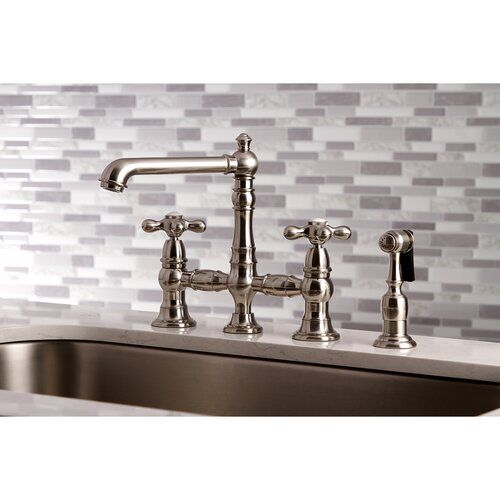English Country Bridge Faucet With Side Spray With Images