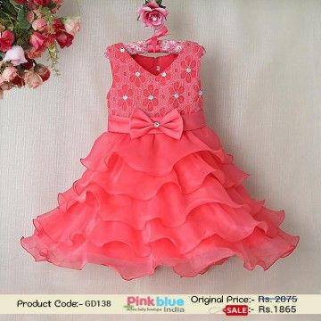 2016 New Design Baby Girls Party Dress - Cute Peach Princess ...