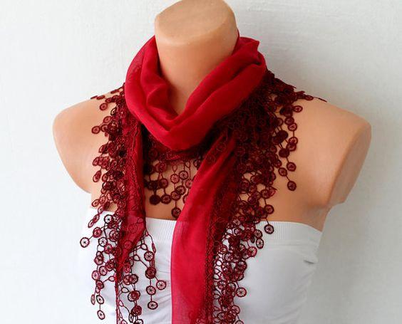 gorgeous scarf: Beautiful Scarf, Cute Scarfs, Red Scarf, Cotton Scarf, Crazy Scarfs, Bohemian Style, Bad Scarf