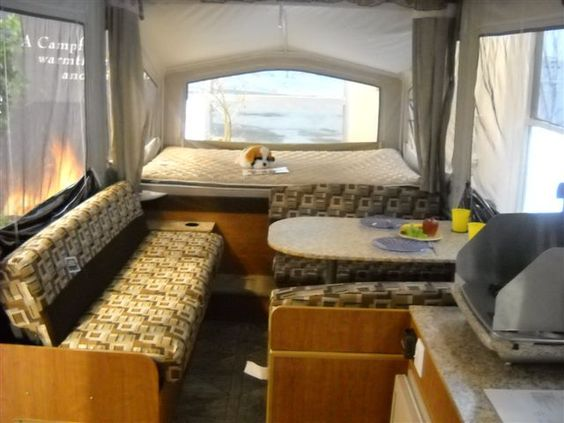 Inside Our Tent Trailer Camping Pinterest The O Jays Pop Up Campers And Pop Up