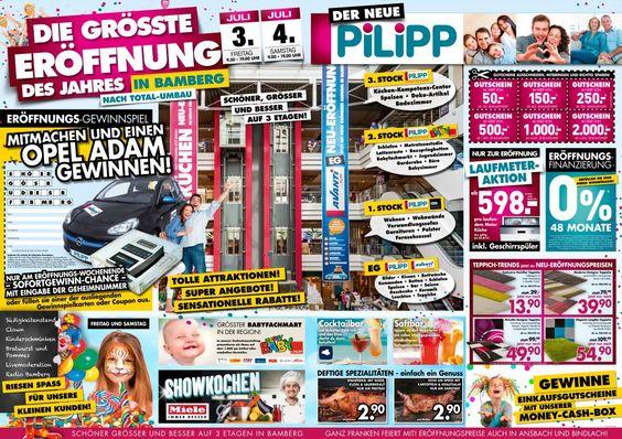 Simple VERKAUFSOFFENER SONNTAG bei Ihrem Eintrichtungscenter Pilipp in BINDLACH bei Bayreuth Aktionen und Gewinnspiele Pinterest