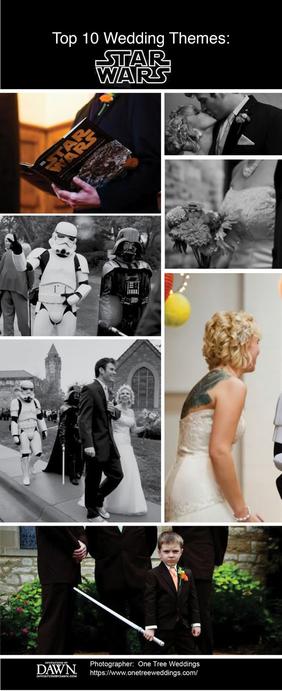 Top Unique Wedding Themes Star Wars Inspired Bodas De Disfraces