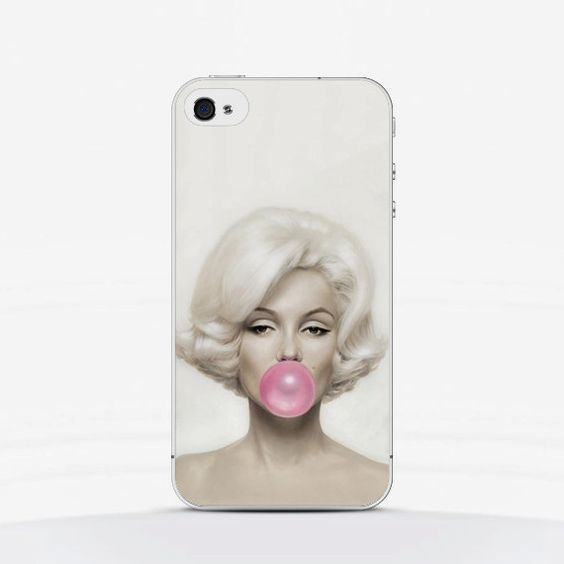 Phone Case Marylin Monroe with Bubble Gum - iPhone, Samsung Galaxy, Sony Xperia