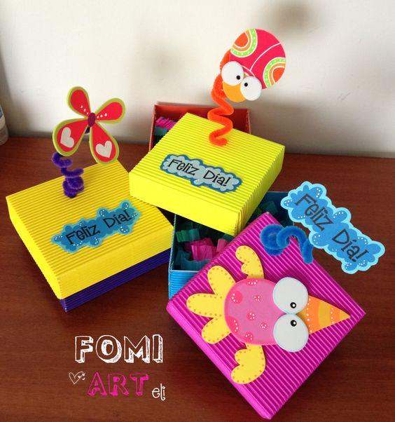 Cajas decoradas con fomi manualidades foamy pinterest - Manualidades cajas decoradas ...