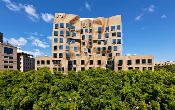contorted brick façades on UT Sydney Business School, Australia... via Designboom