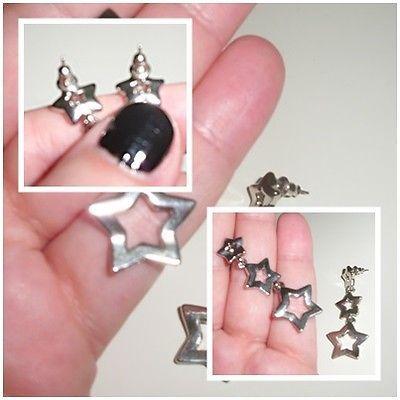 Damen #Ohrringe - #Modeschmuck Hängerchen/Stecker/Silber/Sterne | #eBay  #VERKAUFT